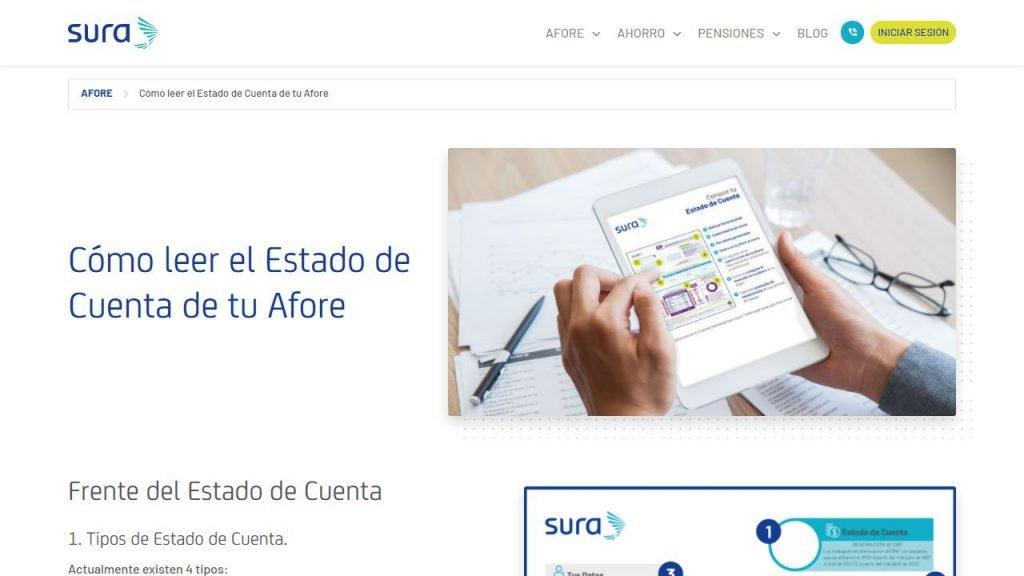 Captura de pantalla de Página de Estado de Cuenta