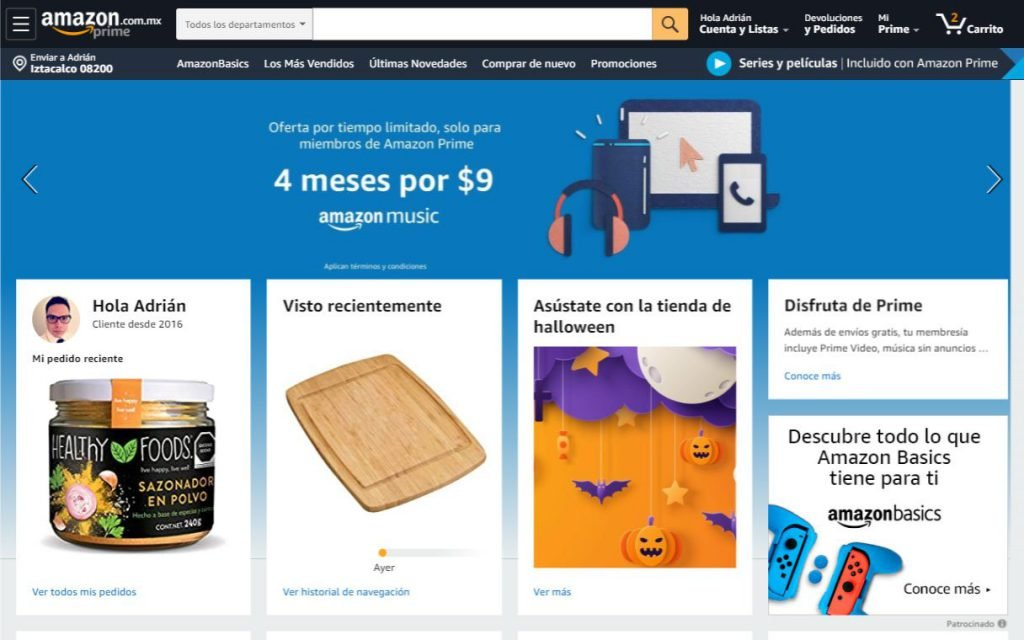 Captura de pantalla de Amazon México